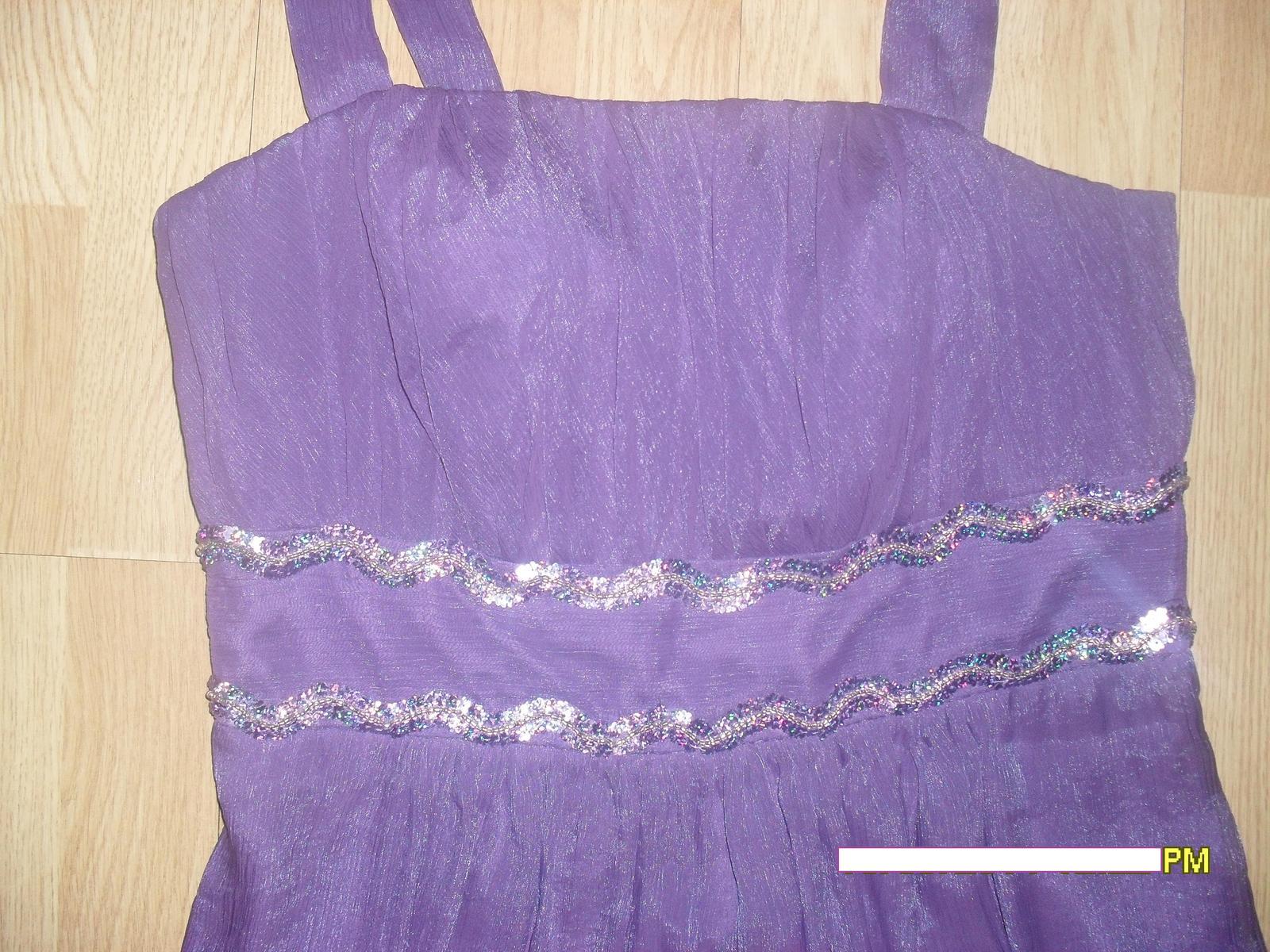 fialové šaty L-XL - Obrázok č. 4