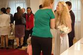 Krátké svatební (či popůlnoční) šaty značky EL, 38