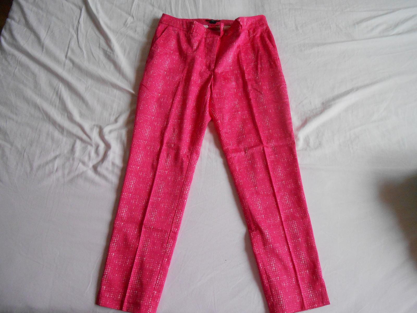 Ružové 7/8-nové striekané nohavice zn. H&M - Obrázok č. 1