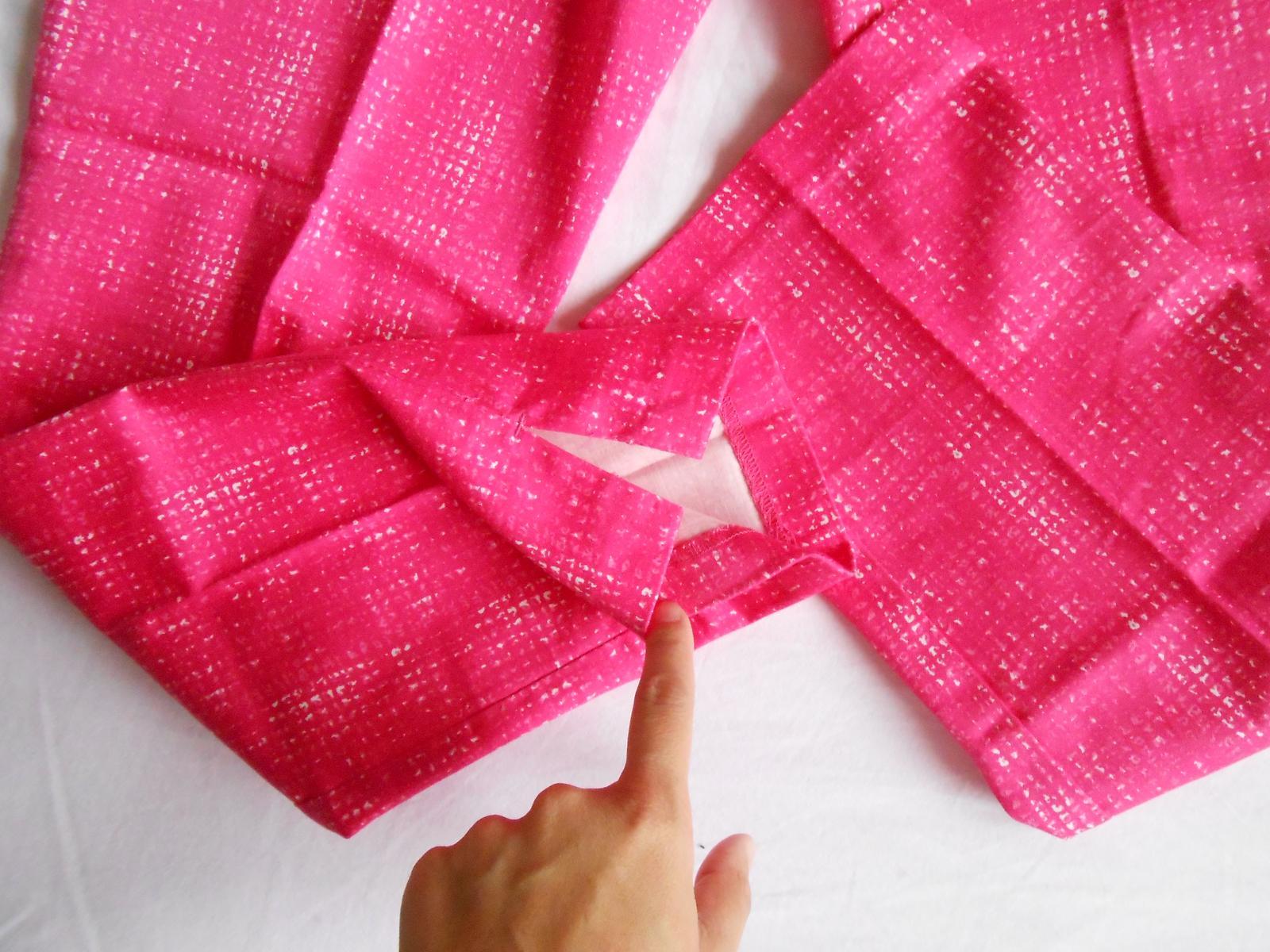Ružové 7/8-nové striekané nohavice zn. H&M - Obrázok č. 3