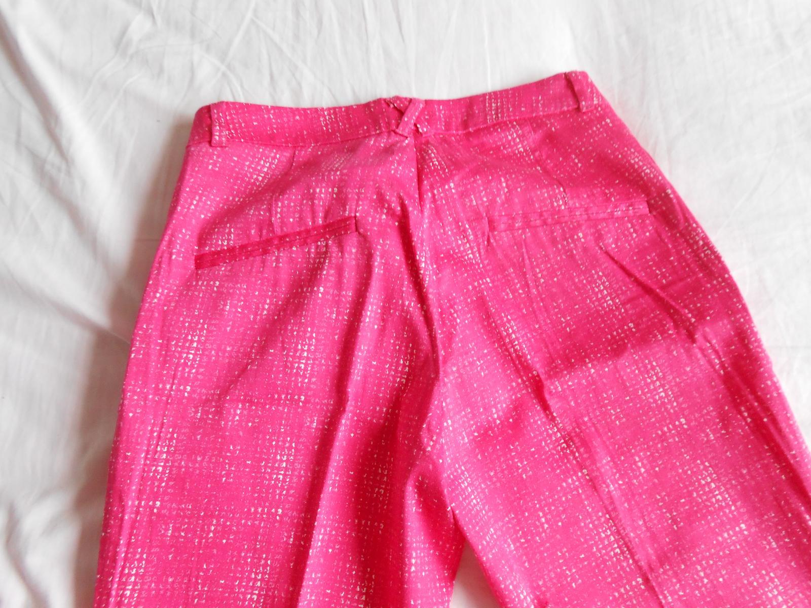 Ružové 7/8-nové striekané nohavice zn. H&M - Obrázok č. 4