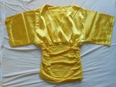 Zlatá/žltá saténová blúzka/top, S