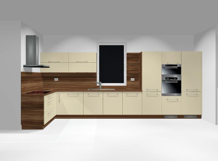Domček - Návrh našej kuchyne, prosím poraďte aký odtieň podlahy k nej???