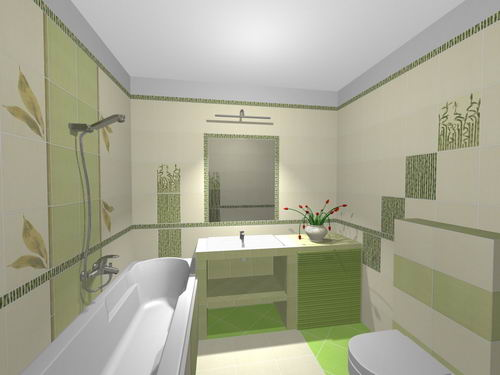 Zařízení Puškovorec - vybrany obklad do koupelny