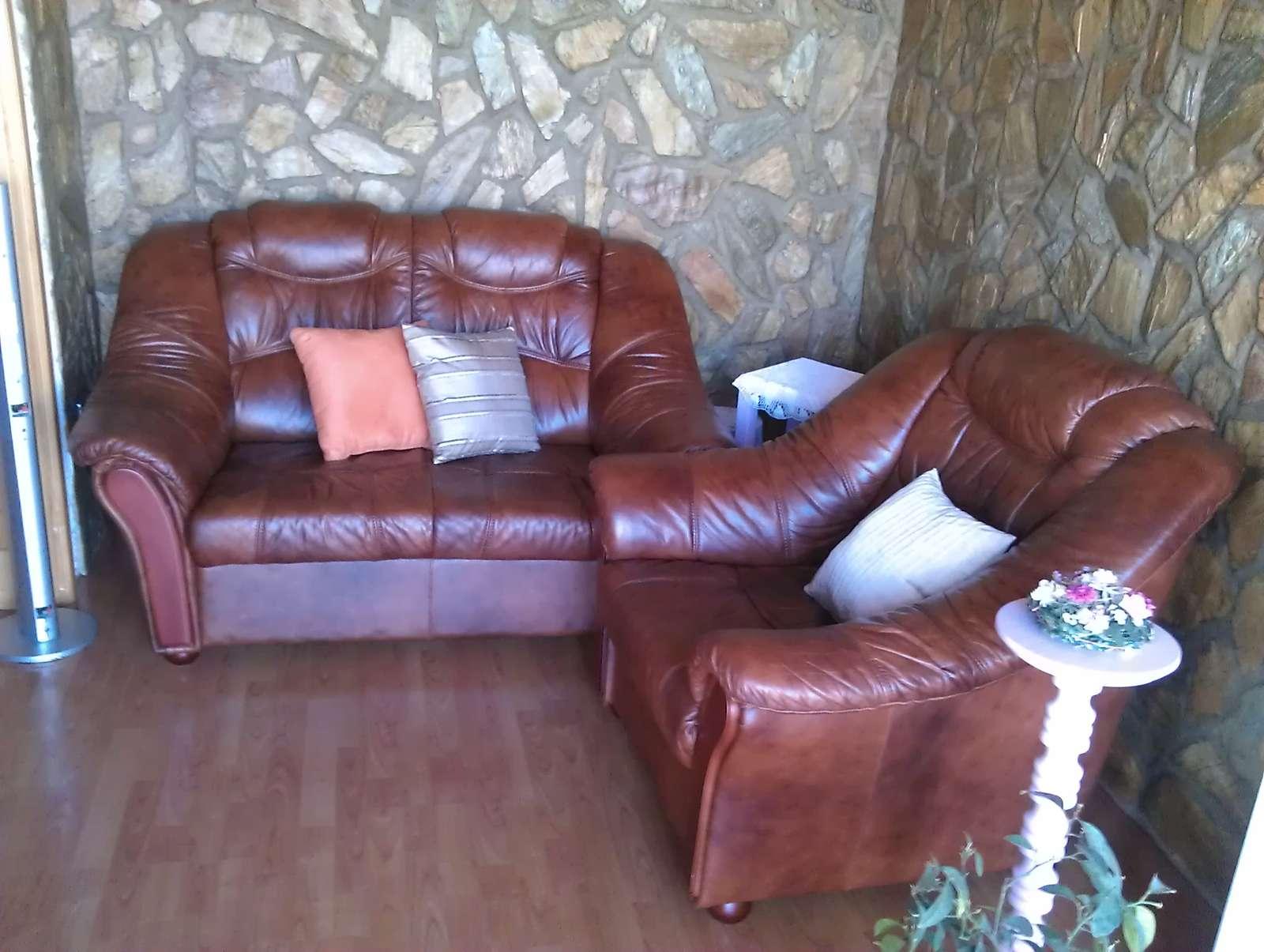 Kožená sedačka  - Obrázok č. 1