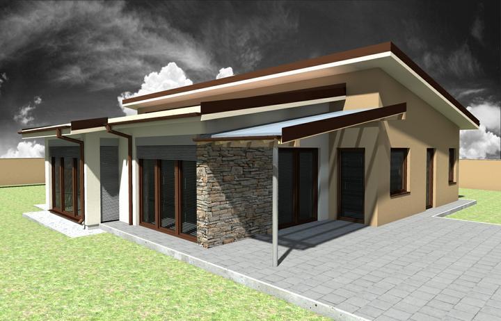 Bungalov s pultovymi strechami - Obrázok č. 2