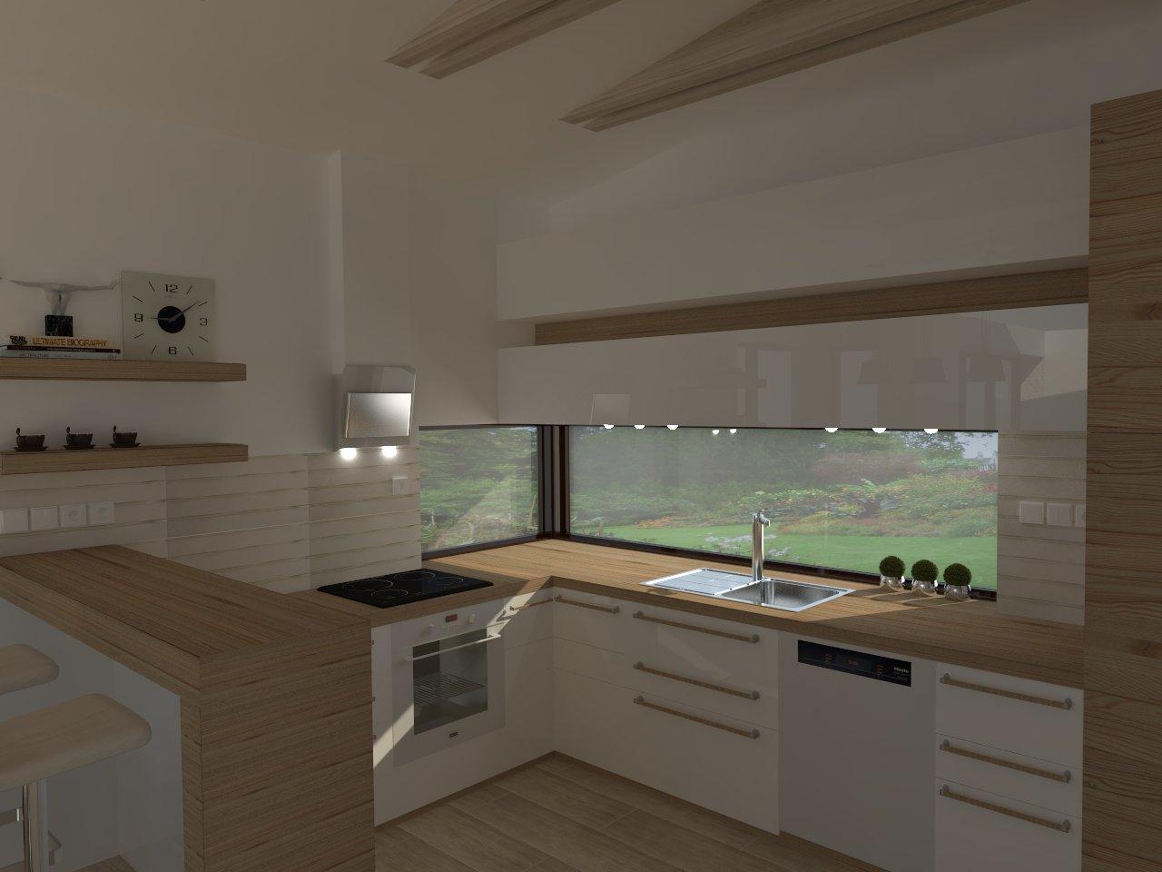 Bungalov s pultovymi strechami - zaciname pomaly vyberat kuchynu