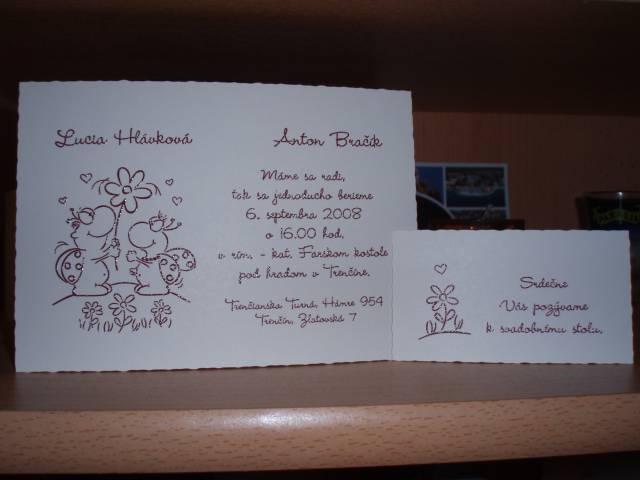 Lucka a Tonko 6. 9. 2008 - naš oznámenie