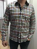 Pánska kockovaná SLIM košeľa, L