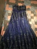 Spoločenské šaty - kráľovská modrá, 40