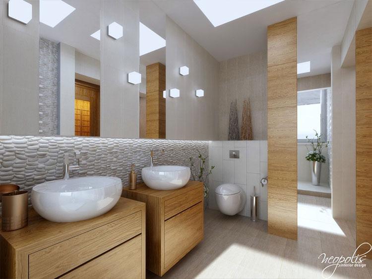 Vizualizácie kúpeľne pre inšpiráciu - Viac obrázkov na: http://www.kupelnovy-manual.sk/domaci-wellness-v-prirodnych-tonoch/
