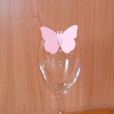 objednané motýle ako menovky