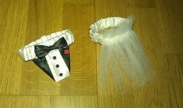 oblečko na svadobné poháre :D