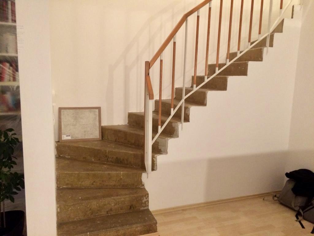 Renovace schodiště - vybraná betonová stěrka