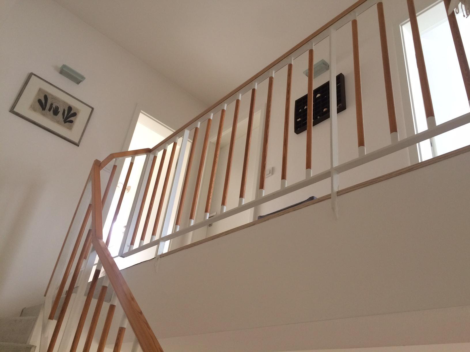 Renovace schodiště - zábradlí - původní stav