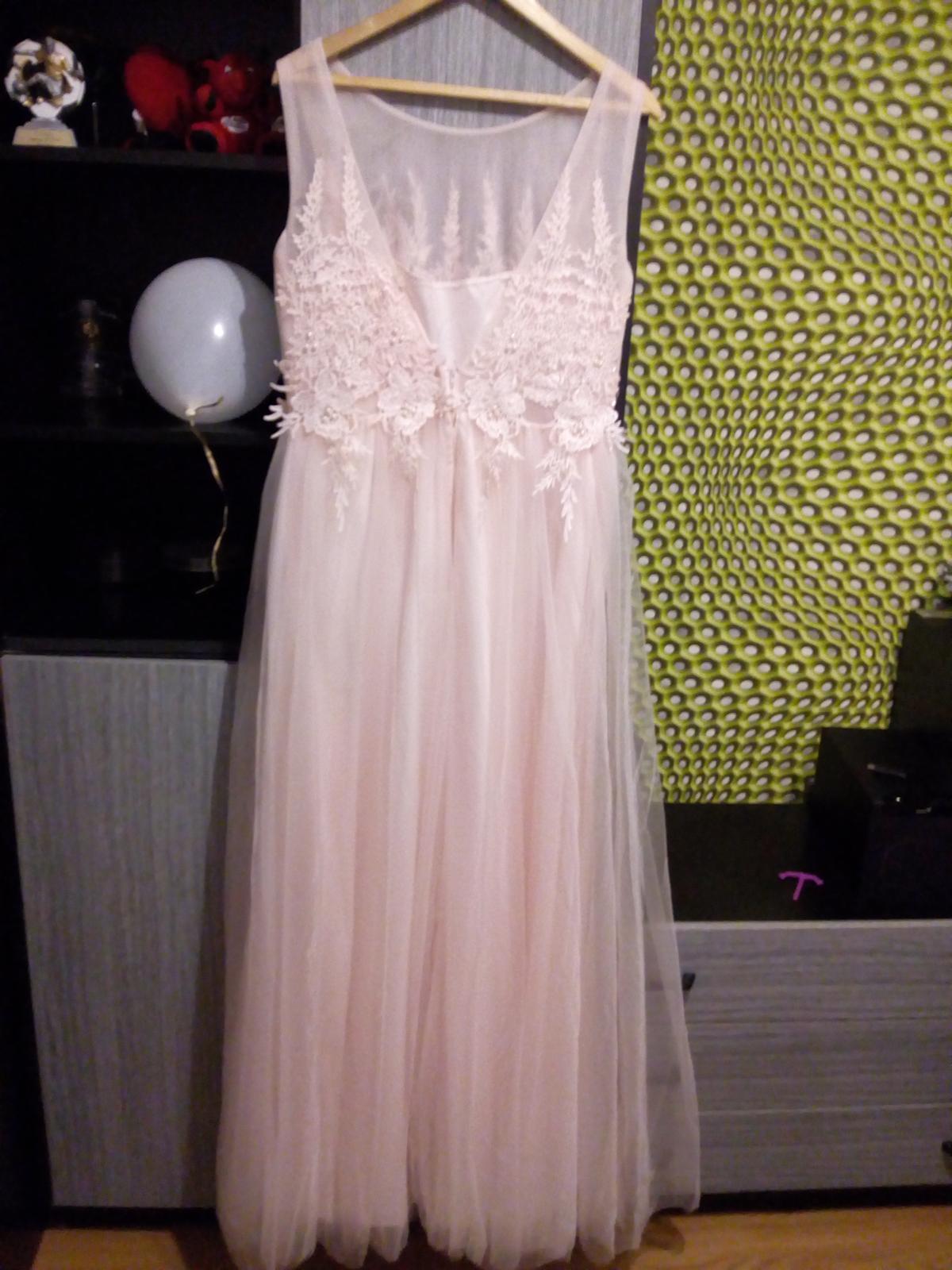 Bledoružové šaty - Obrázok č. 2