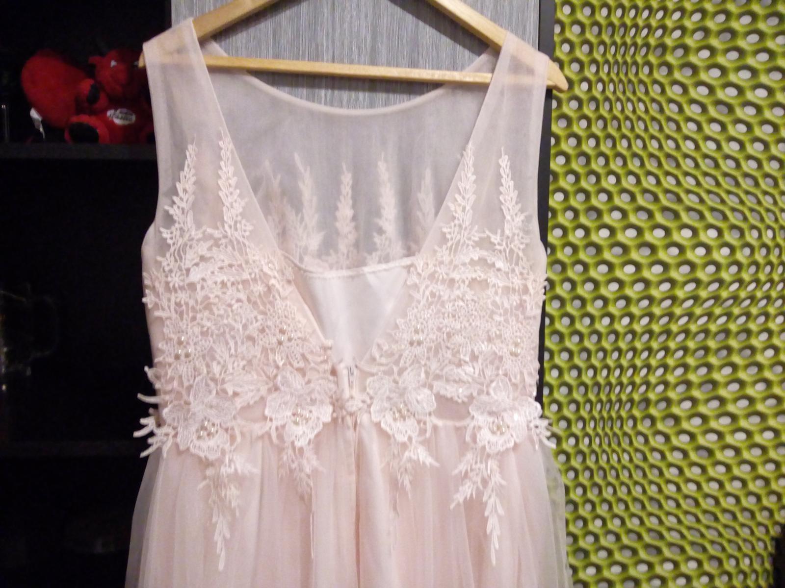 Bledoružové šaty - Obrázok č. 3