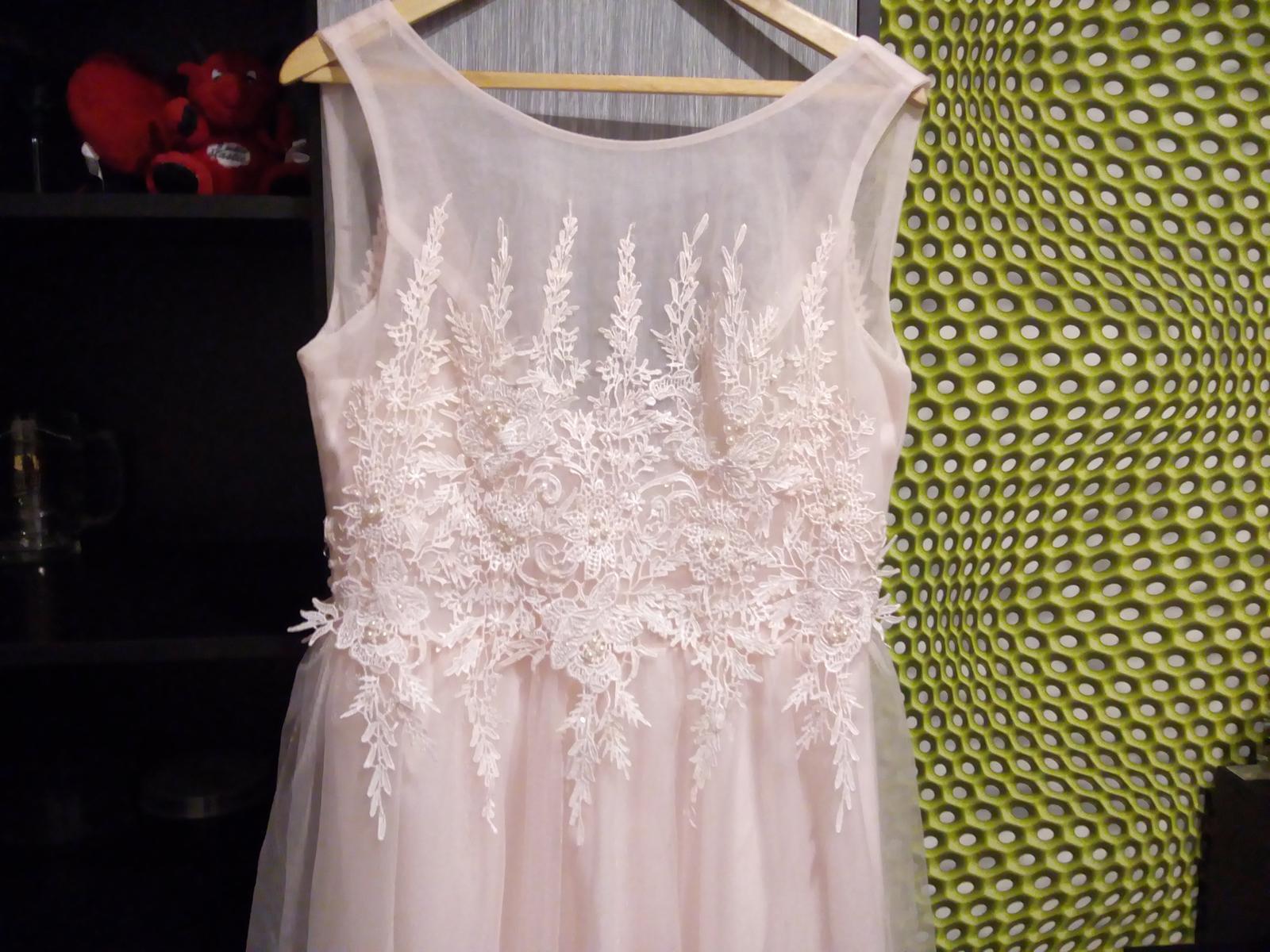 Bledoružové šaty - Obrázok č. 4
