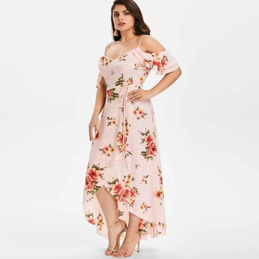 Dámske bledo ružové šaty veľkosť 48 - Obrázok č. 2