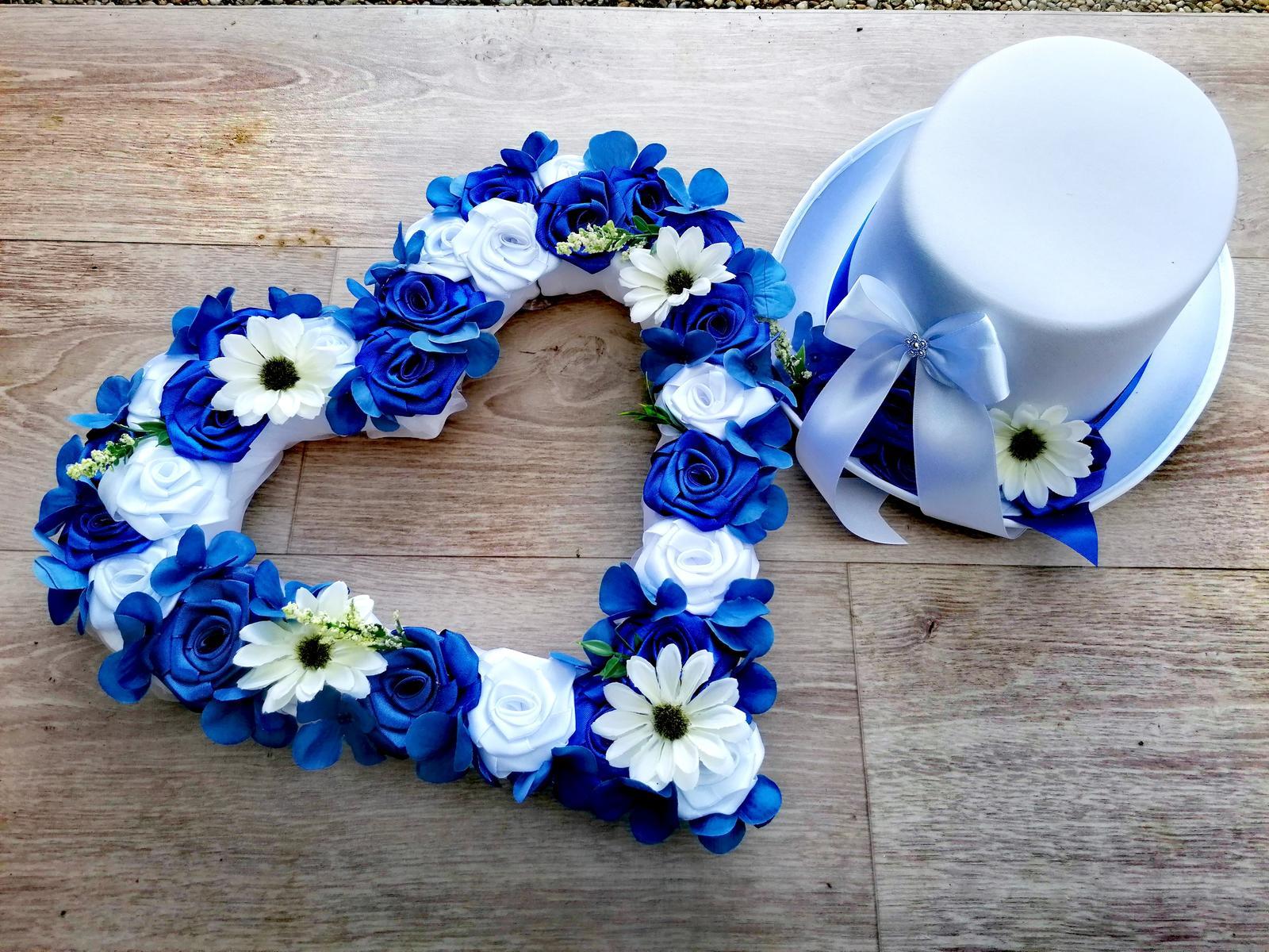 Výzdoba na auto nevěsty a ženicha - Obrázek č. 1