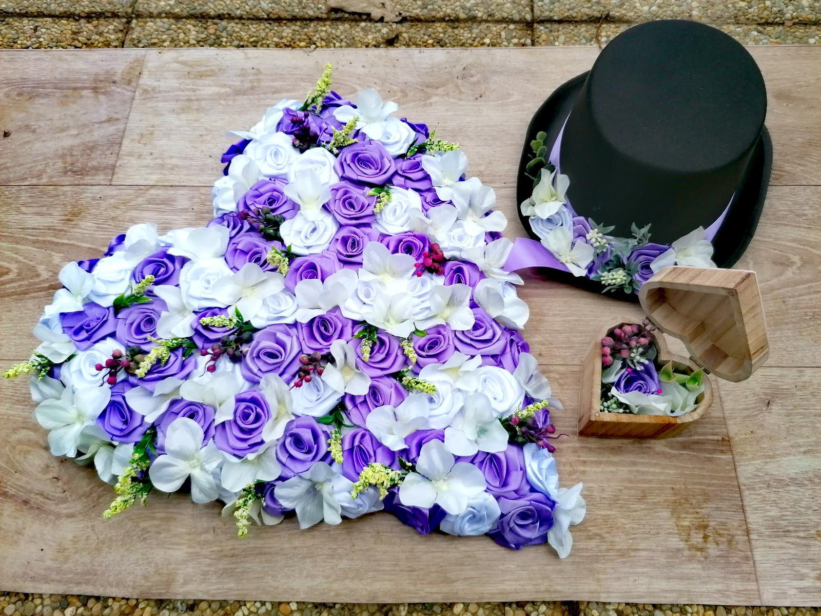 Svatební set na auto nevěsty a ženicha - Obrázek č. 1
