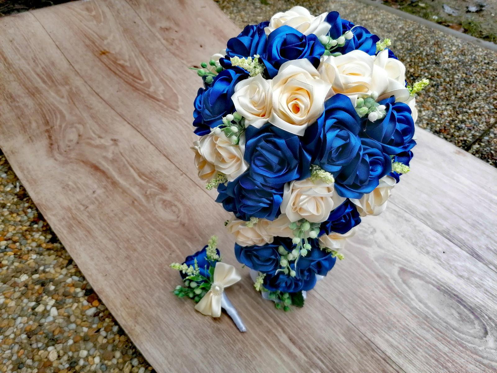 Kytice prevys a korsáž pro ženicha a nevěstu - Obrázek č. 1