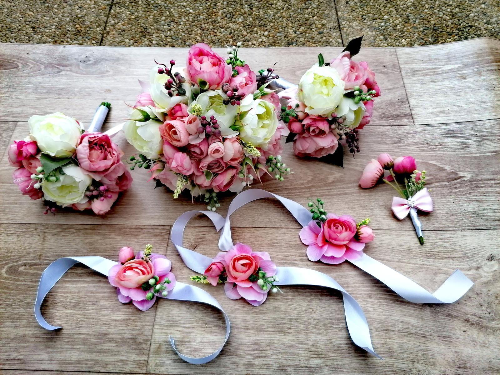 Svatební umělá kytice - Obrázek č. 1