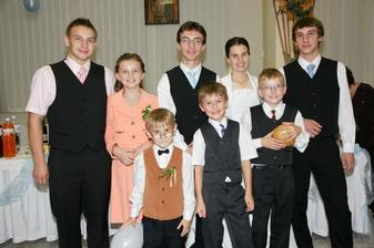 Peťovi súrodenci - Matúš, Jakub, Dušan, Tánička, Marek a Paľko