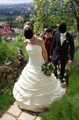 Svatební šaty šité na zakázku vel.38-40, 38