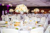 KOMPLET svadobná výzdoba+kvetinová výzdoba do sály,