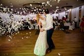 Svadobné/popolnočné šaty zn. TESORO ASTI, 36