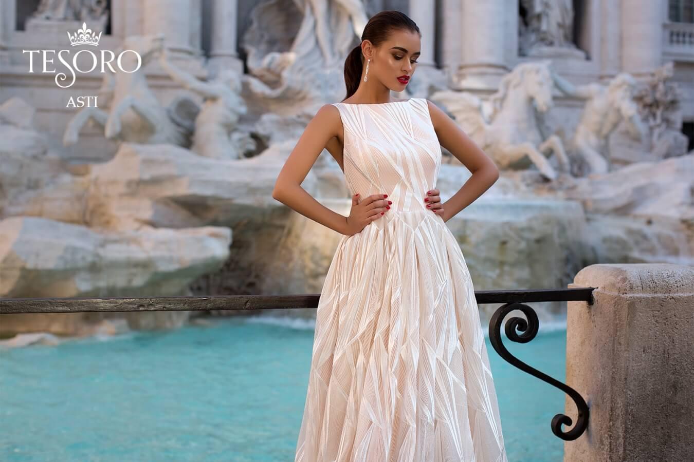 Spoločenské/svadobné šaty TESORO ASTI 36 - Obrázok č. 1