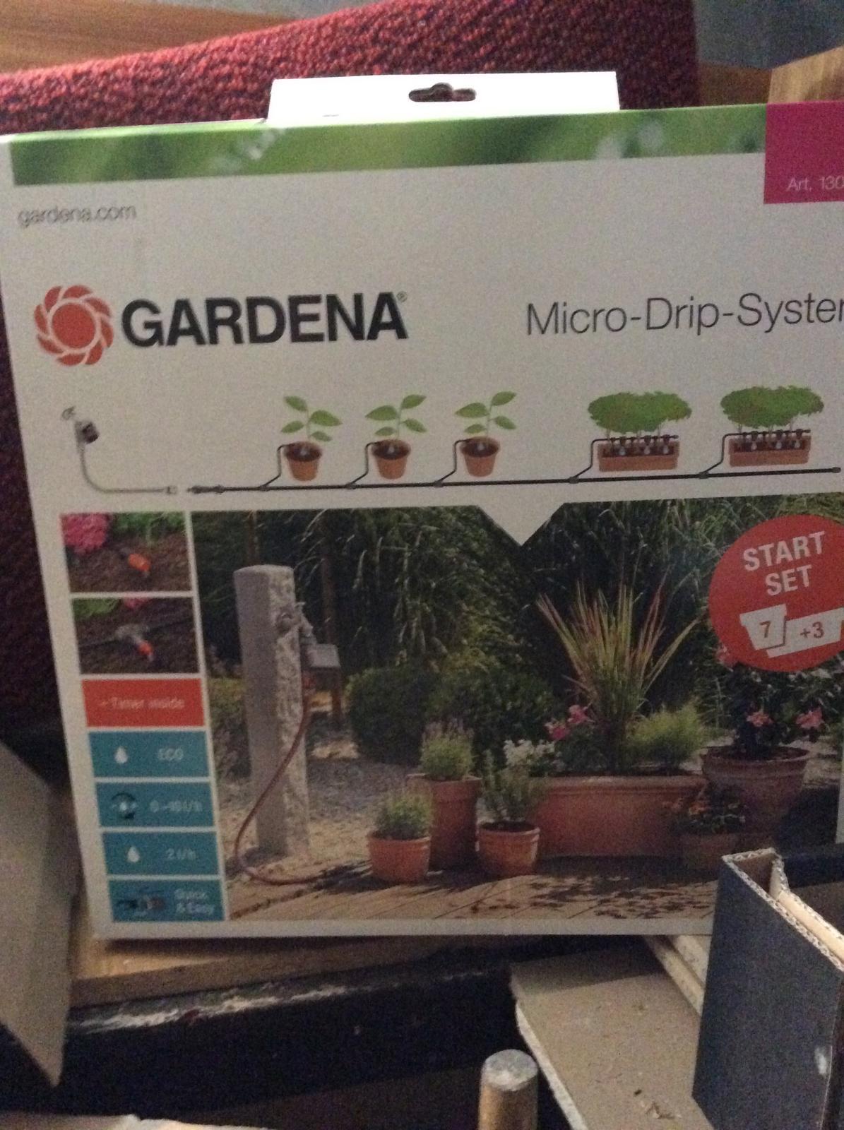 zavlaha gardena micro drip automatic - Obrázok č. 1