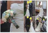 Jednoduché krémové svatební šaty, 37
