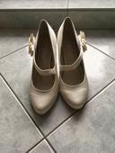 Svatební obuv s mašlí, 38