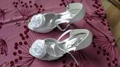 svatební boty bílé rose scent (s kytkou), 39
