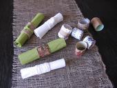 ruličky na ubrousky - přírodní styl, lýko,