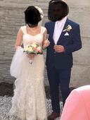 Čipkované svadobné šaty velk. 36, 36