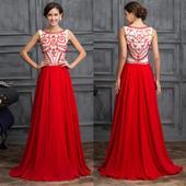 Červené spoločenské šaty pre MOLETKY veľ. 48 až 54, 50