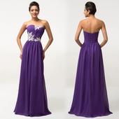 Fialové spoločenské šaty pre MOLETKY veľ. 48 až 54, 52