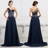 Modré spoločenské šaty pre MOLETKY veľ. 48 až 54, 50