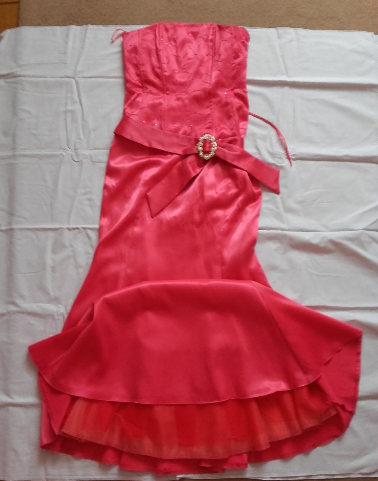 Dlhé spoločenské korzetové šaty, veľkosť č. 36/38 - Obrázok č. 2
