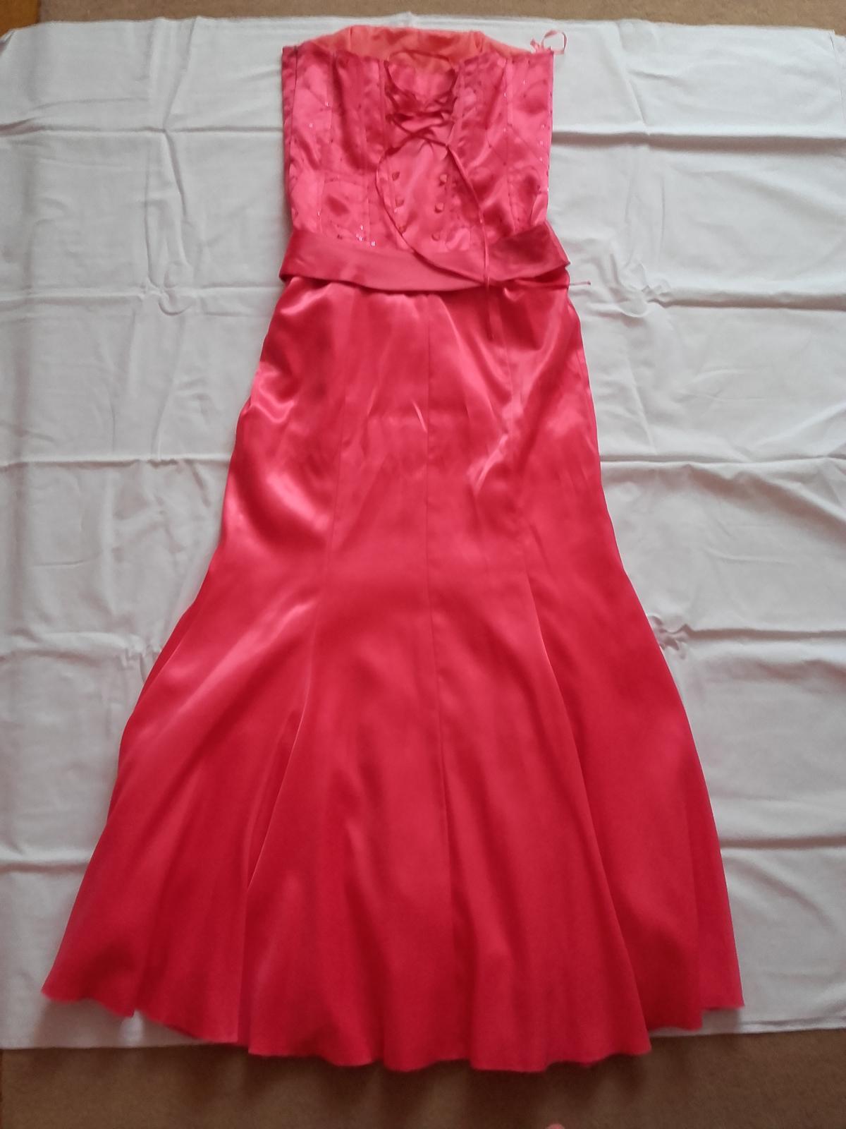 Dlhé spoločenské korzetové šaty, veľkosť č. 36/38 - Obrázok č. 3