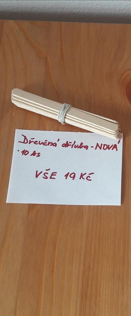 Dřevěná dřívka - 10 ks - Obrázek č. 1
