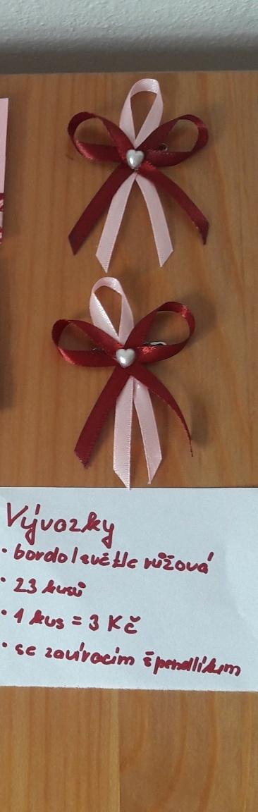 Vývazky - burgundy/růžová - Obrázek č. 1