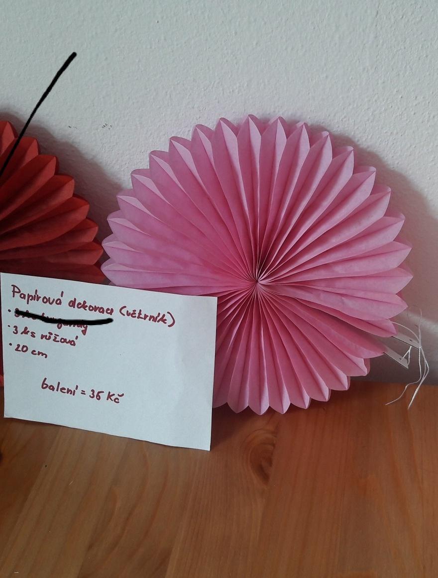 Papírová dekorace - rozeta - Obrázek č. 1