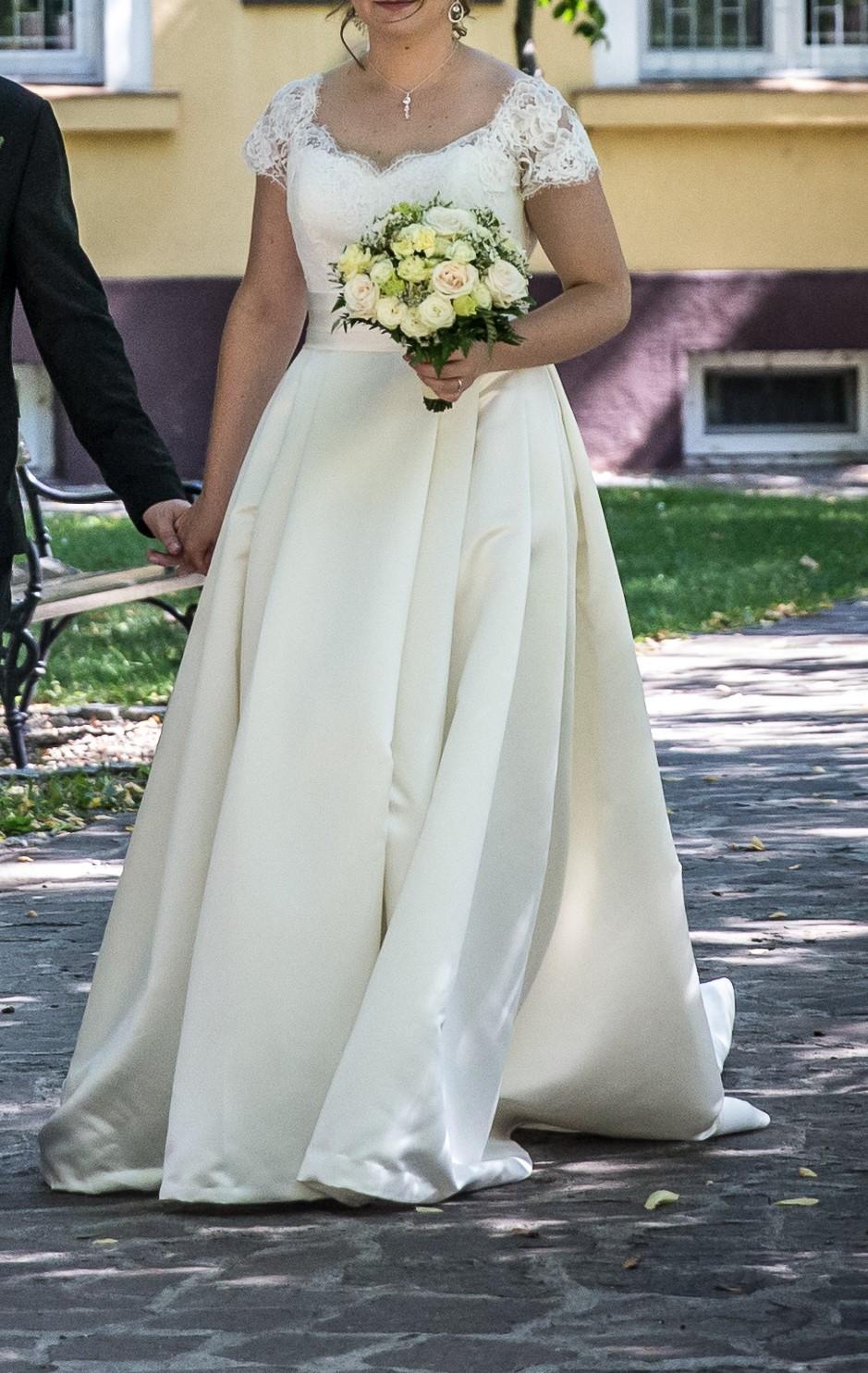Svadobné šaty veľ.40 - Obrázok č. 2
