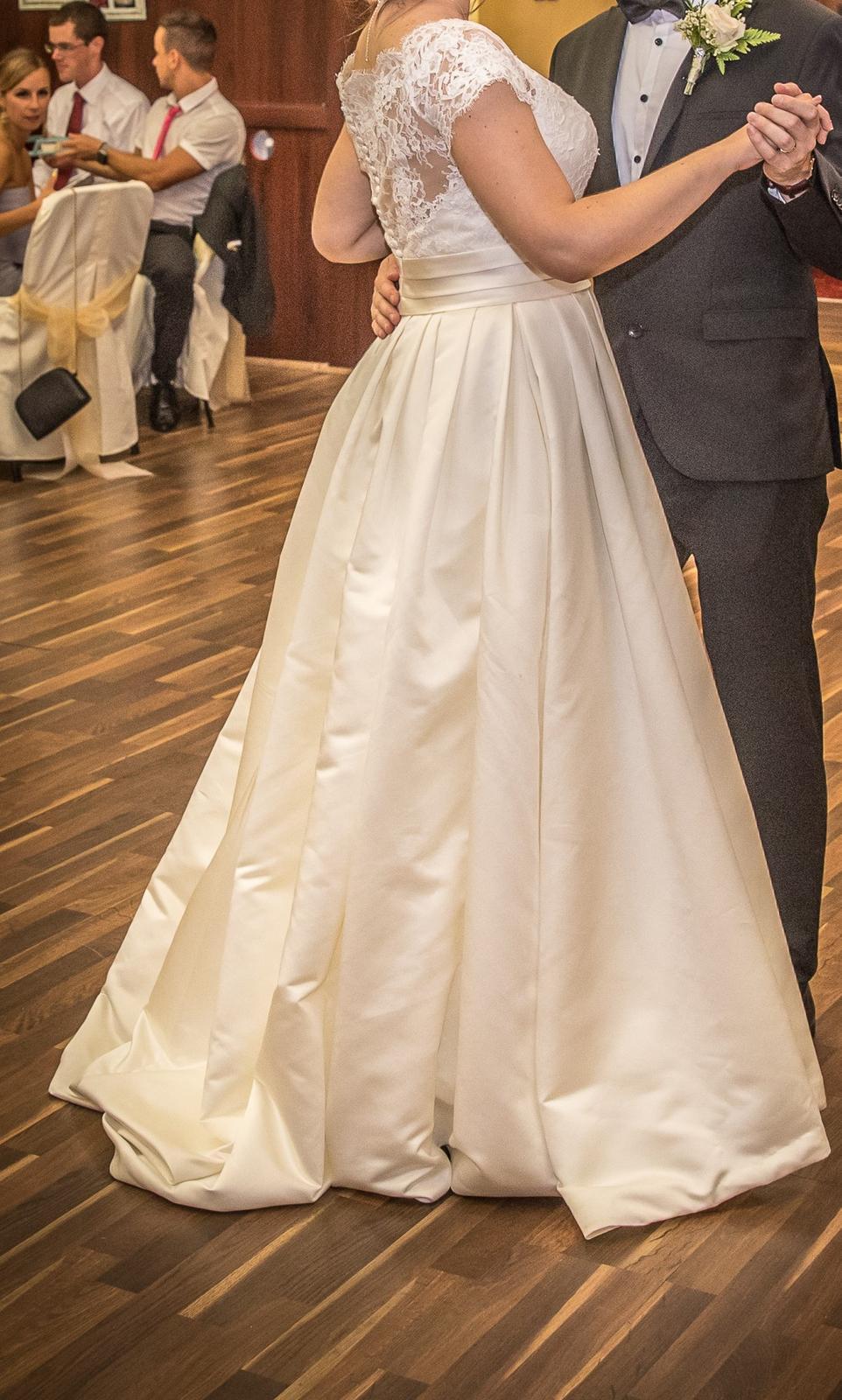 Svadobné šaty veľ.40 - Obrázok č. 3