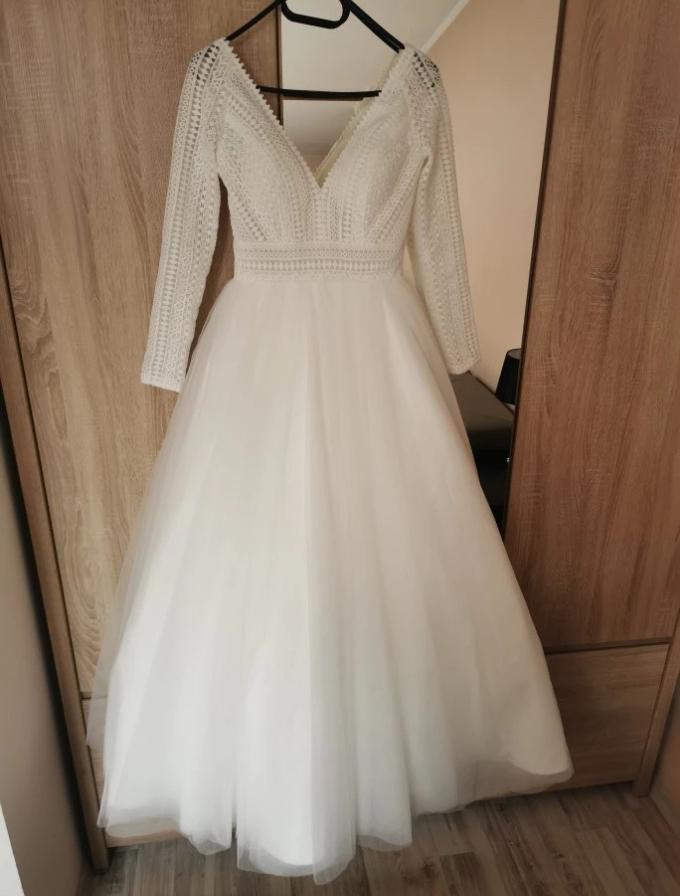 Svadobné šaty veľkosť 44/46 - Obrázok č. 1