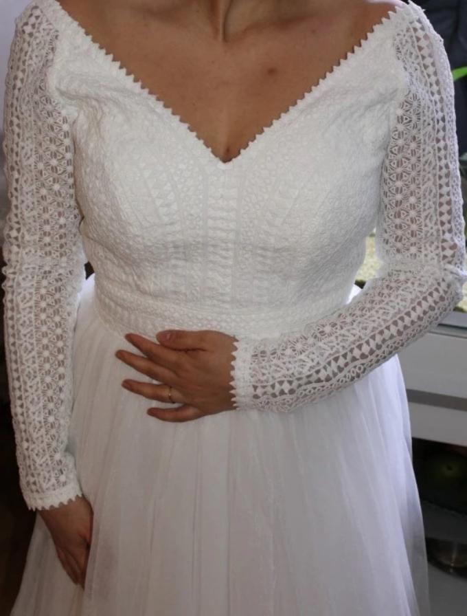 Svadobné šaty veľkosť 44/46 - Obrázok č. 2